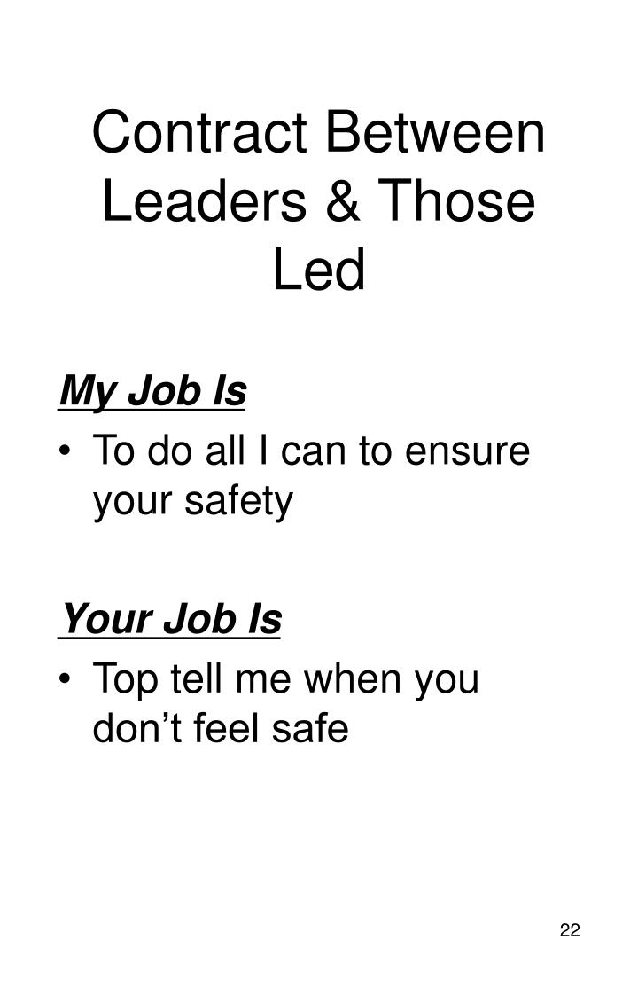 Contract Between Leaders & Those Led