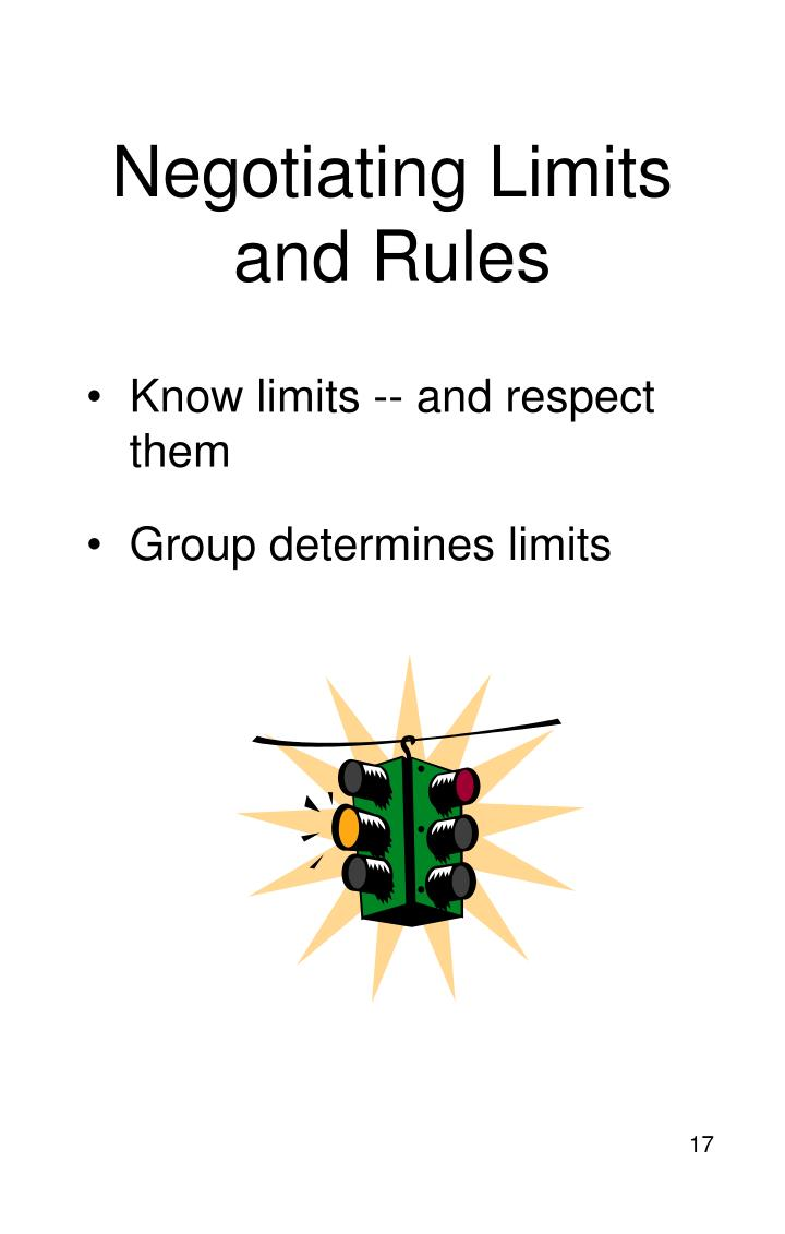 Negotiating Limits and Rules