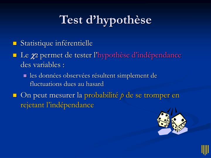 Test d'hypothèse