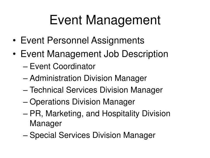 an overview of the job of a premium seating and hospitality event coordinator To prepare the work experience part of the resume the sample job description shown above can be useful you can modify the duties and responsibilities in the work description to match your true experience as a hotel hostess in.