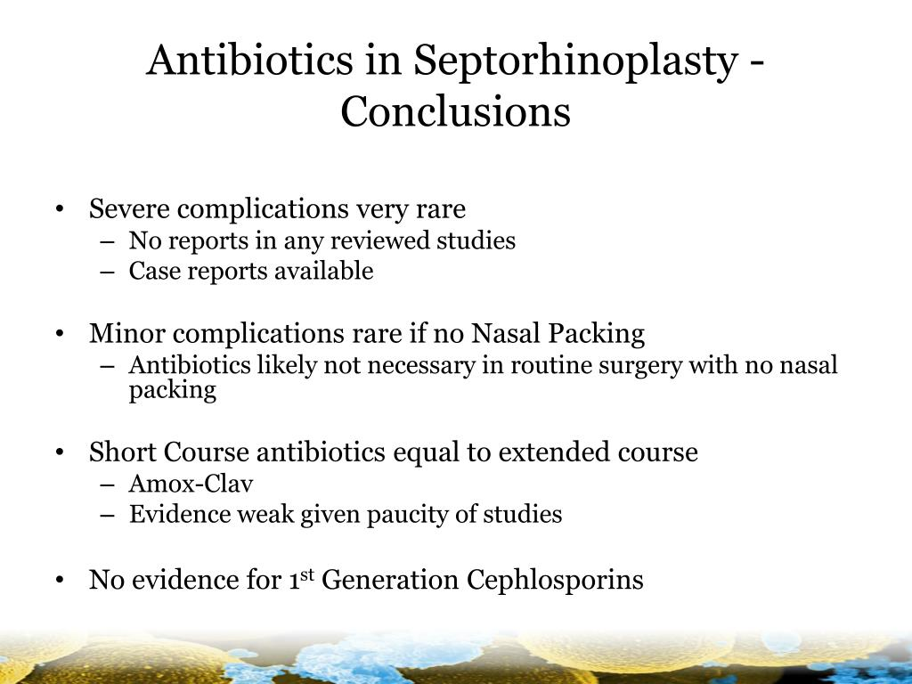 Antibiotics in Septorhinoplasty -