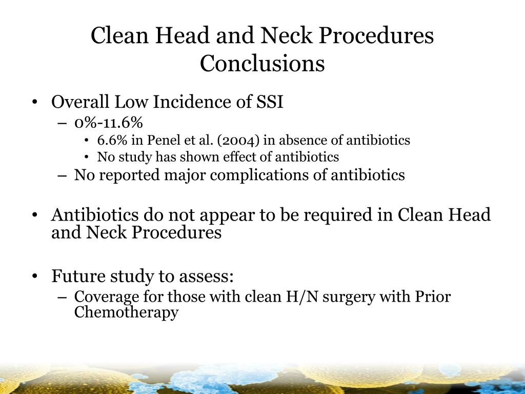 Clean Head and Neck Procedures