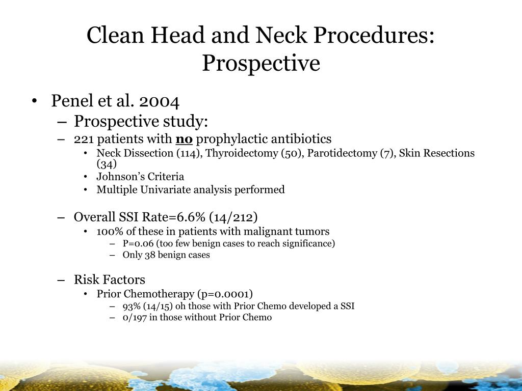 Clean Head and Neck Procedures: Prospective