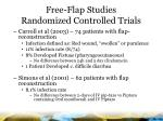 free flap studies randomized controlled trials