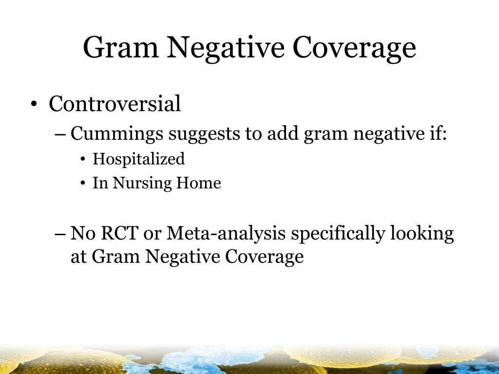 Gram Negative Coverage