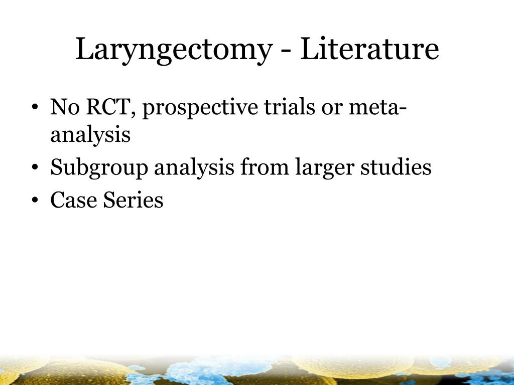 Laryngectomy - Literature