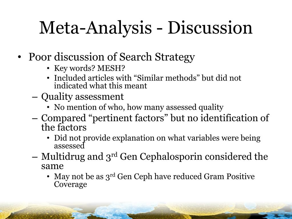Meta-Analysis - Discussion
