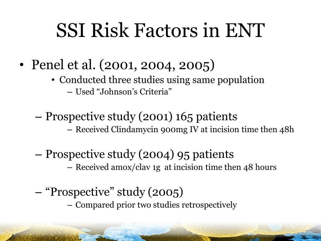SSI Risk Factors in ENT