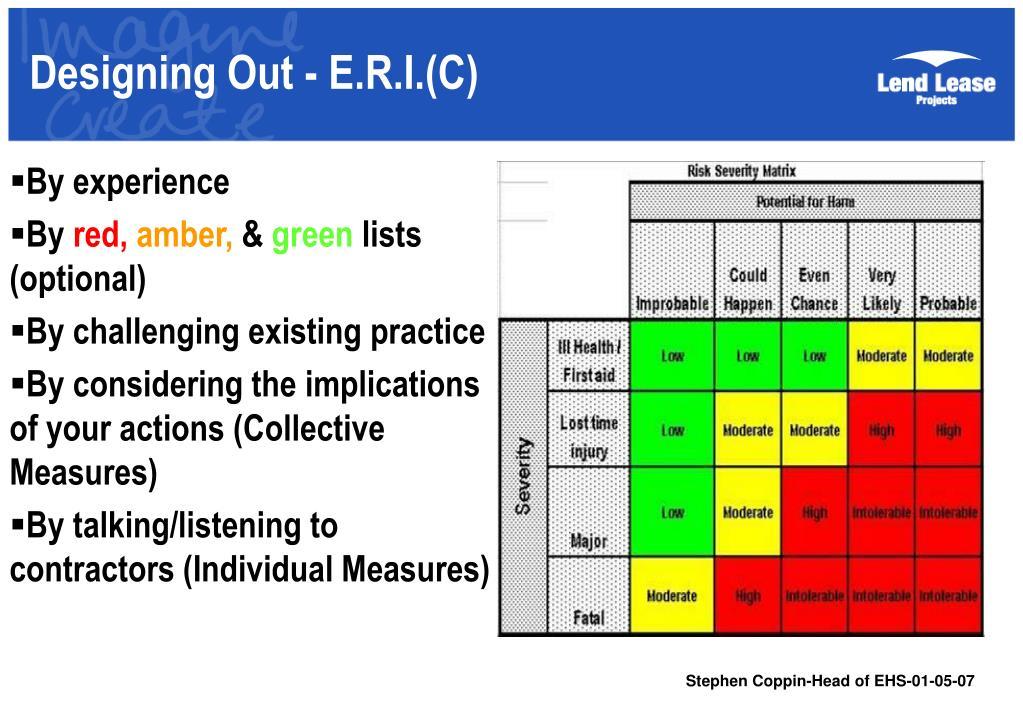 Designing Out - E.R.I.(C)