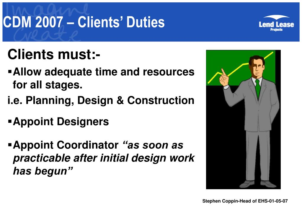 CDM 2007 – Clients' Duties