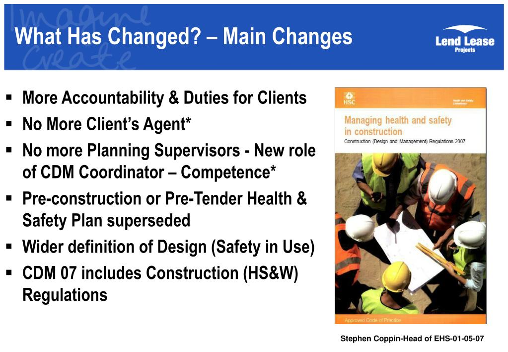 What Has Changed? – Main Changes