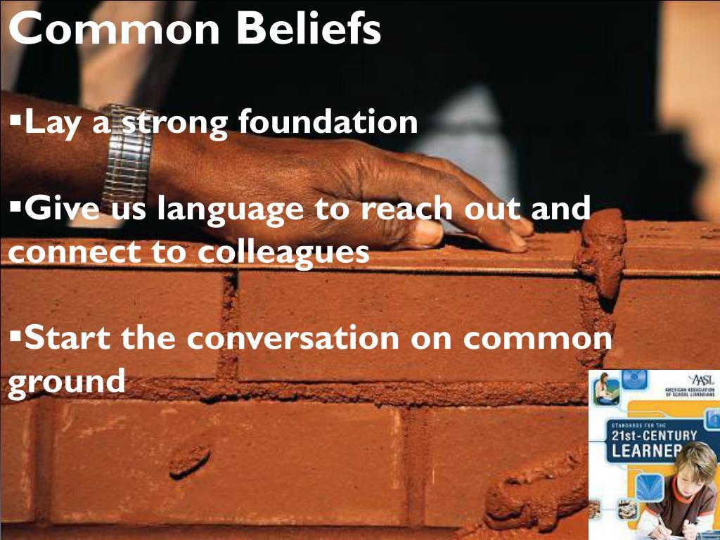 Common Beliefs