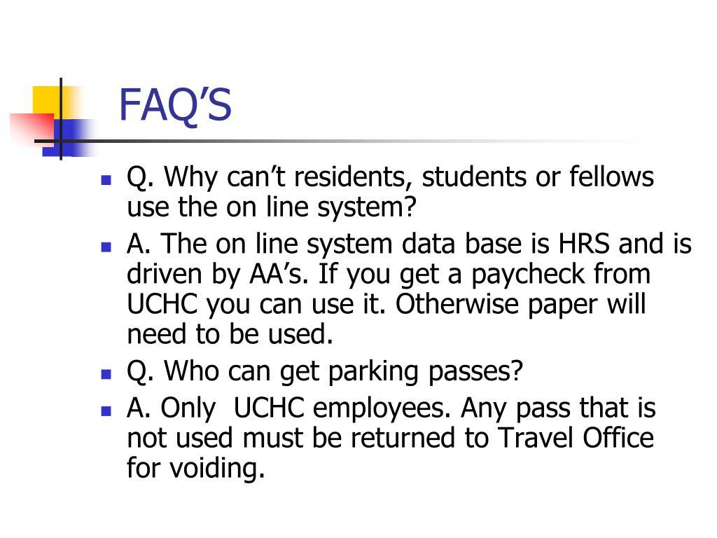 FAQ'S