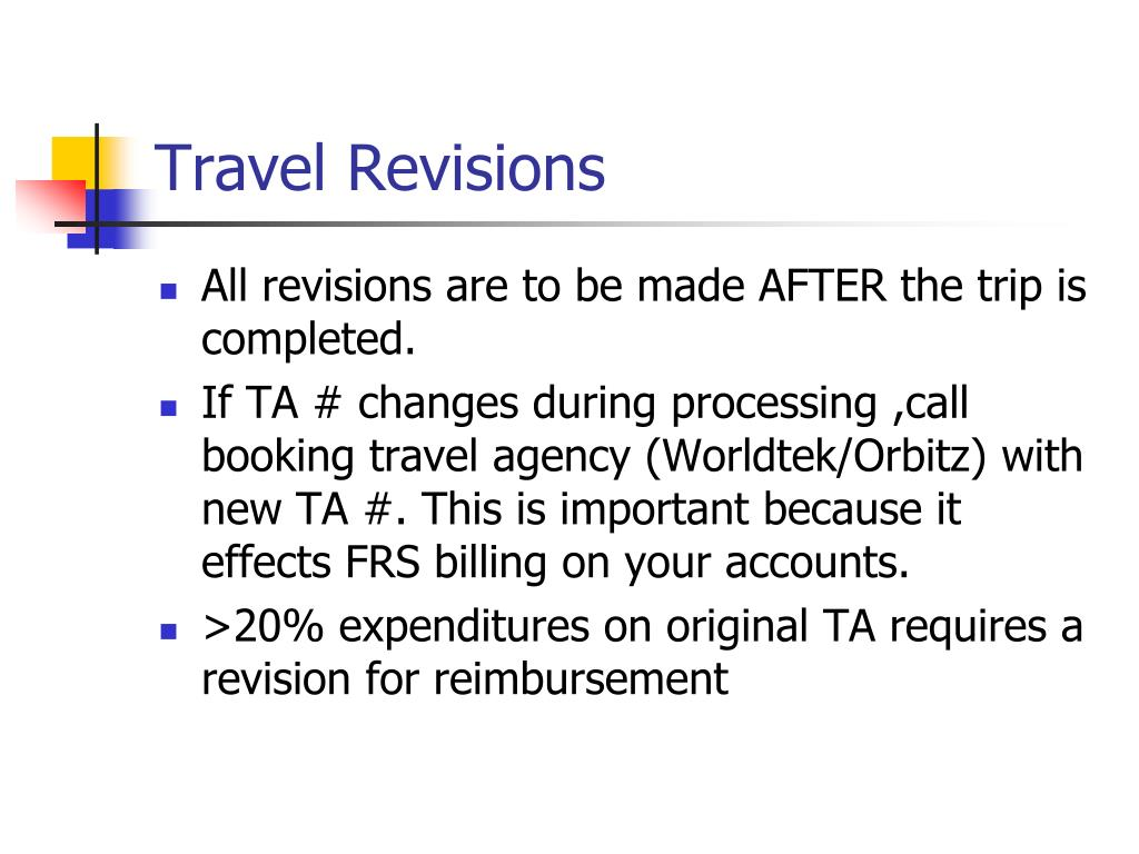 Travel Revisions