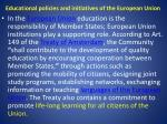 educational policies and initiatives of the european union