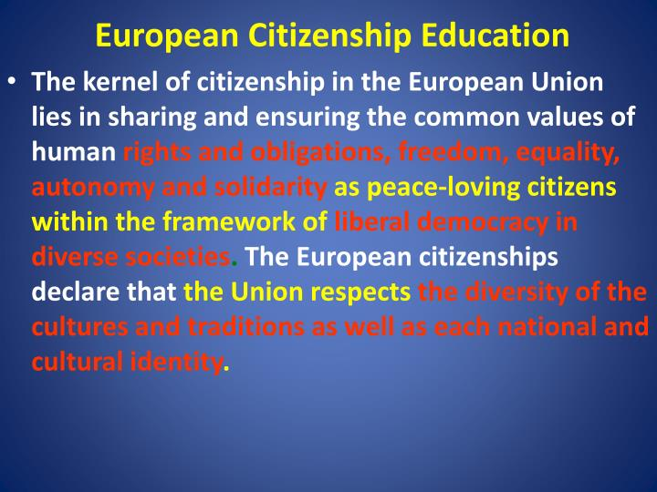 European Citizenship Education