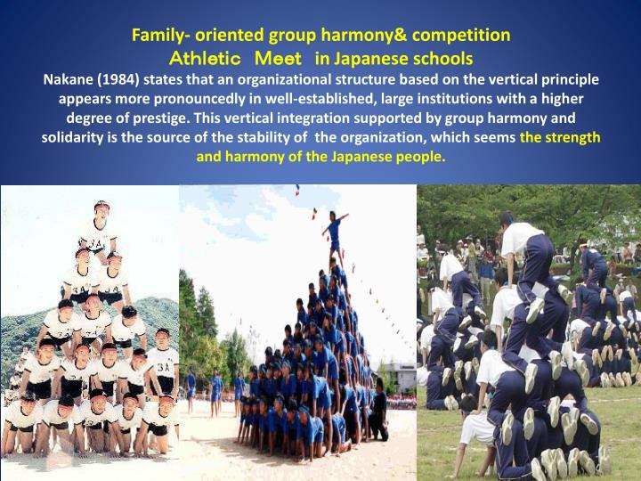 Family- oriented group harmony& competition