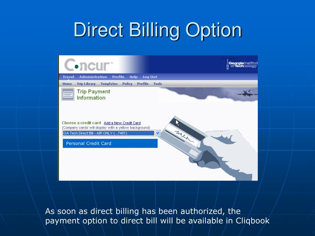 Direct Billing Option