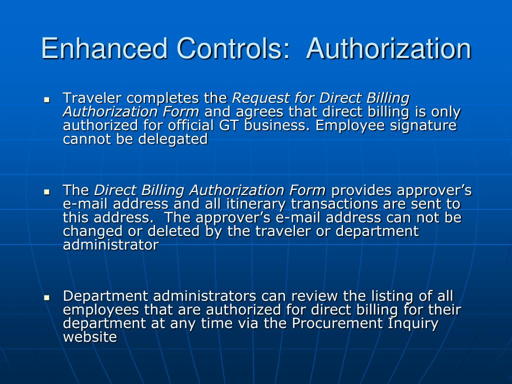 Enhanced Controls:  Authorization