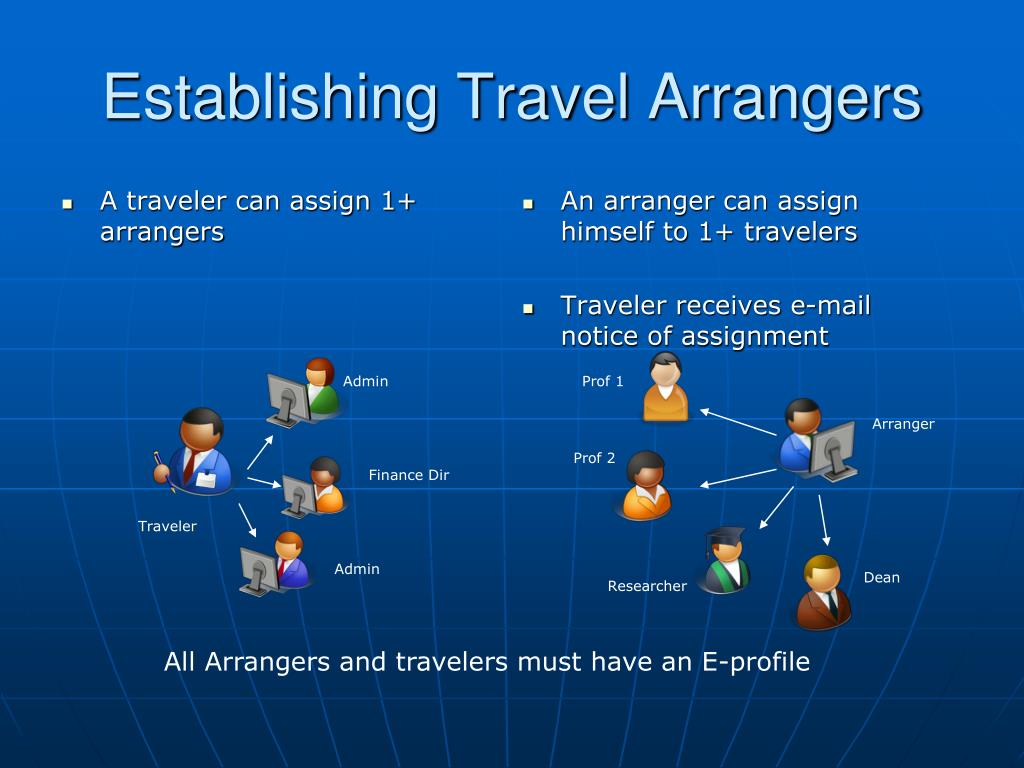 A traveler can assign 1+ arrangers
