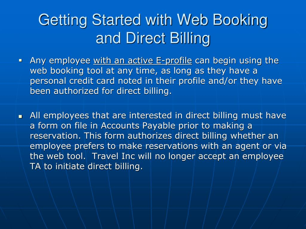 Getting Started with Web Booking
