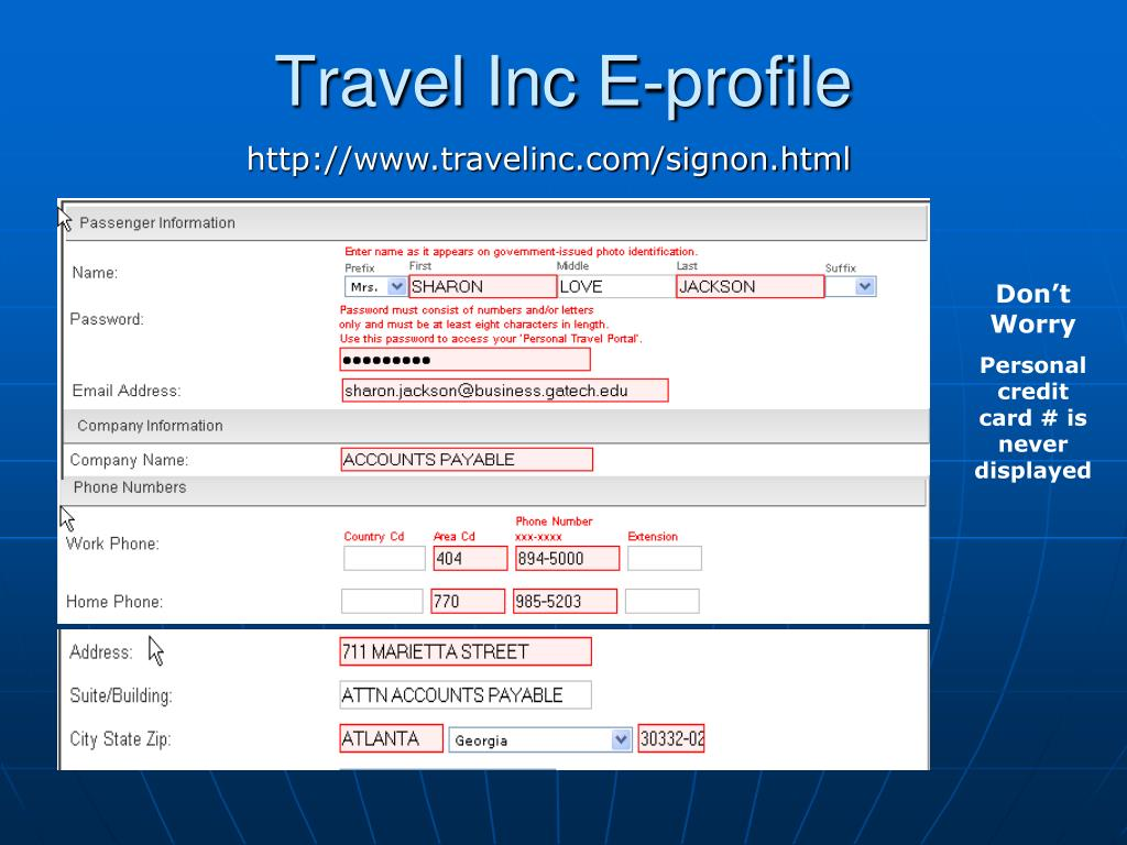 Travel Inc E-profile