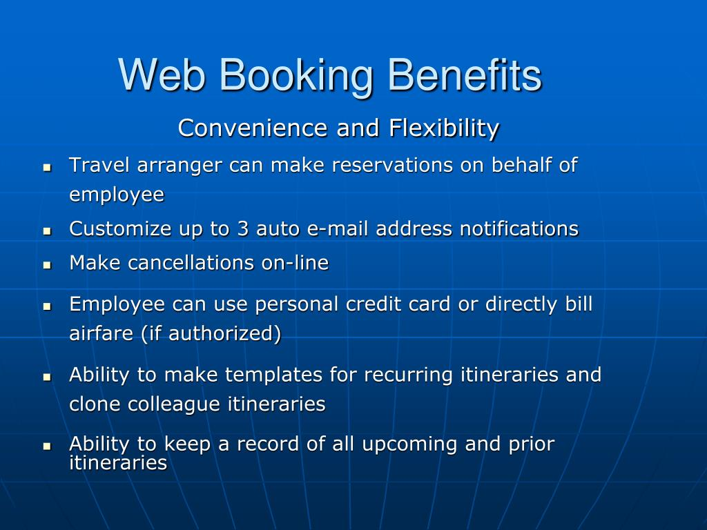 Web Booking Benefits