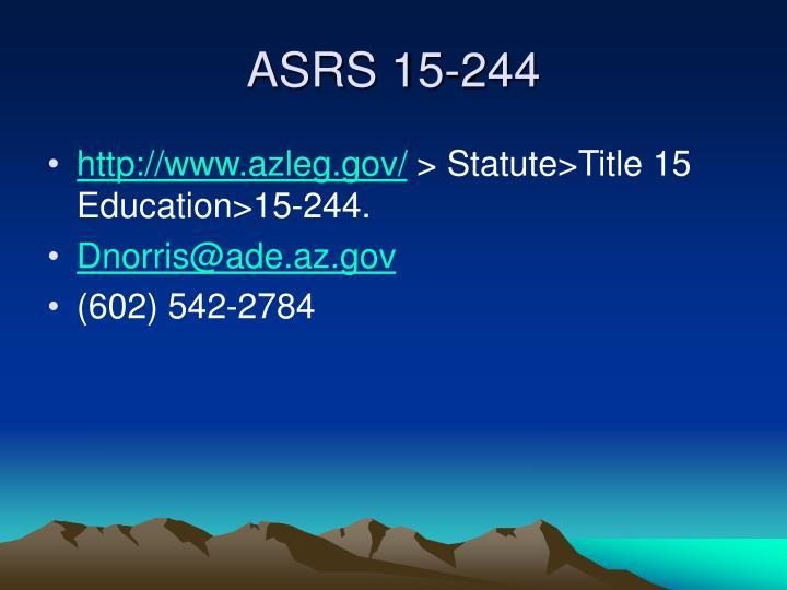 ASRS 15-244