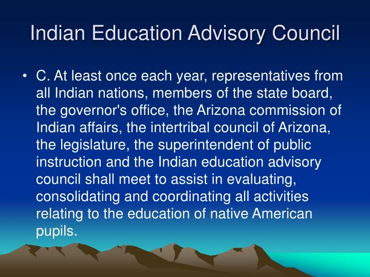 Indian Education Advisory Council