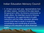 indian education advisory council