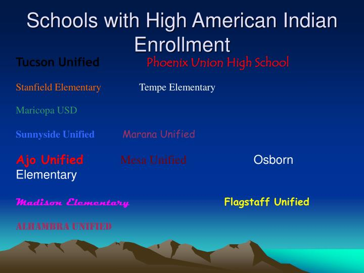 Schools with High American Indian Enrollment