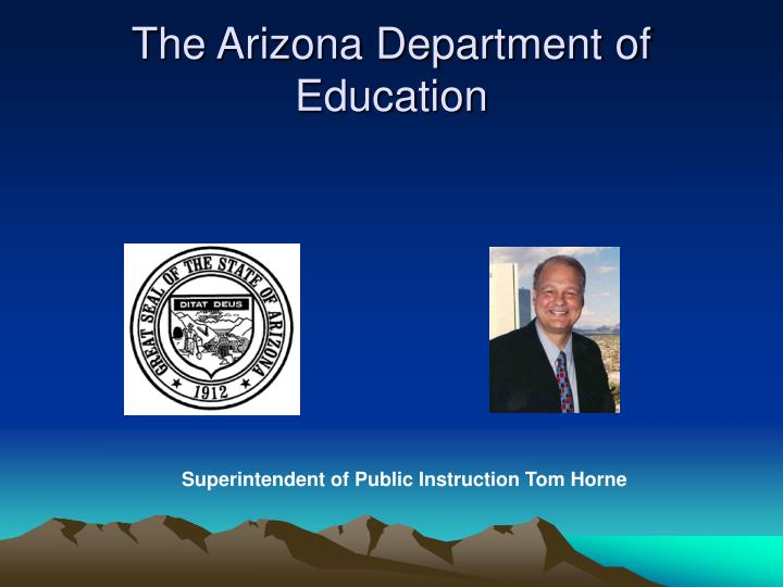 The arizona department of education