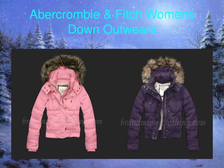 Abercrombie fitch womens down outwears