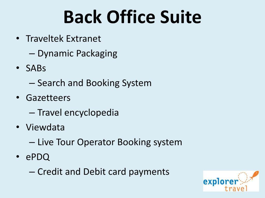 Back Office Suite