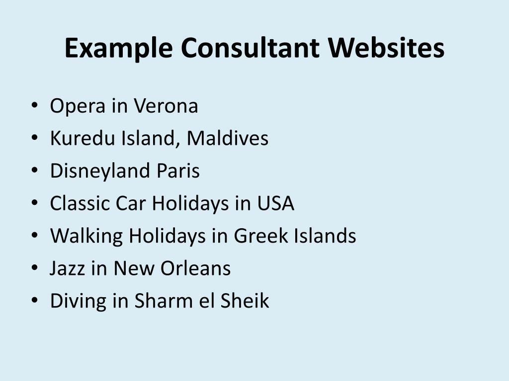 Example Consultant Websites