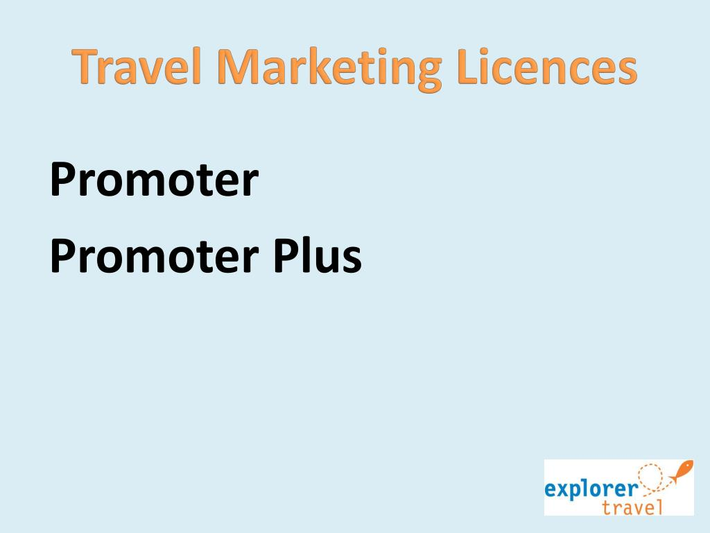 Travel Marketing Licences