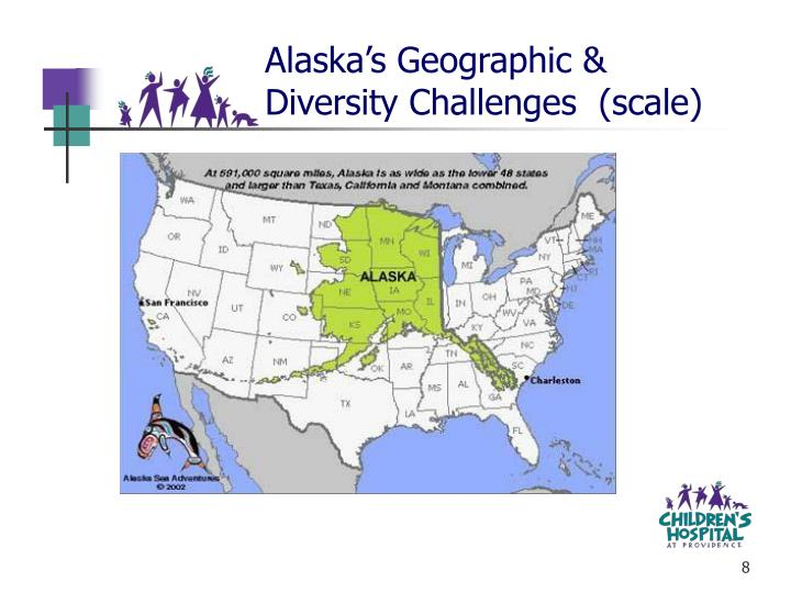 Alaska's Geographic & Diversity Challenges  (scale)