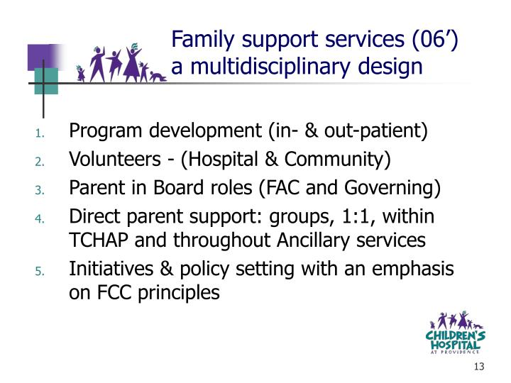 Family support services (06')