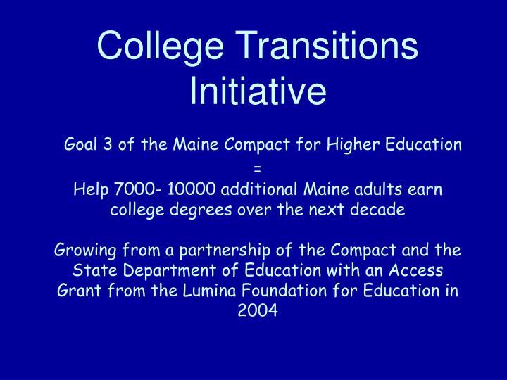 College Transitions Initiative