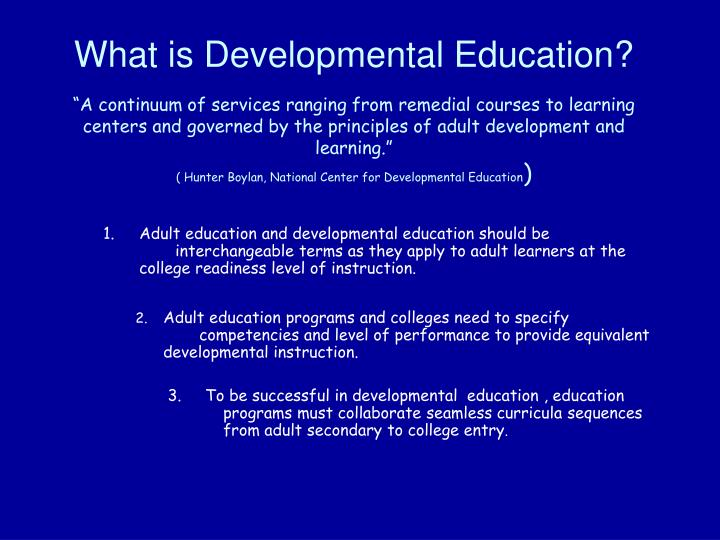 What is Developmental Education?