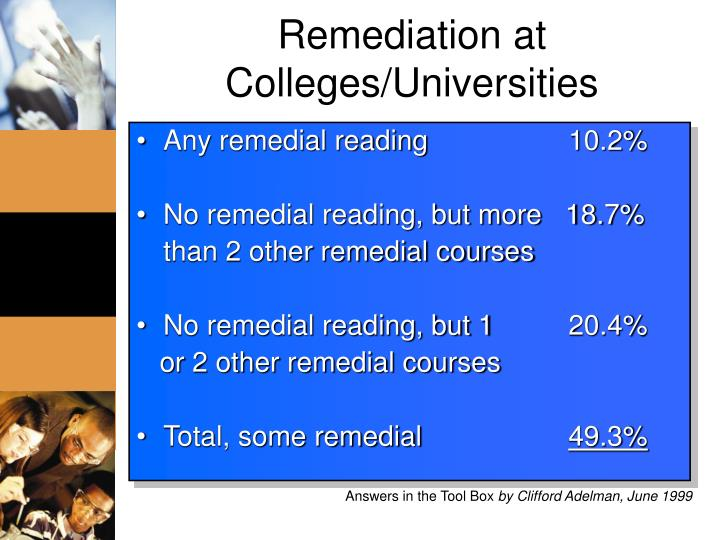 Remediation at Colleges/Universities