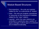module based structures