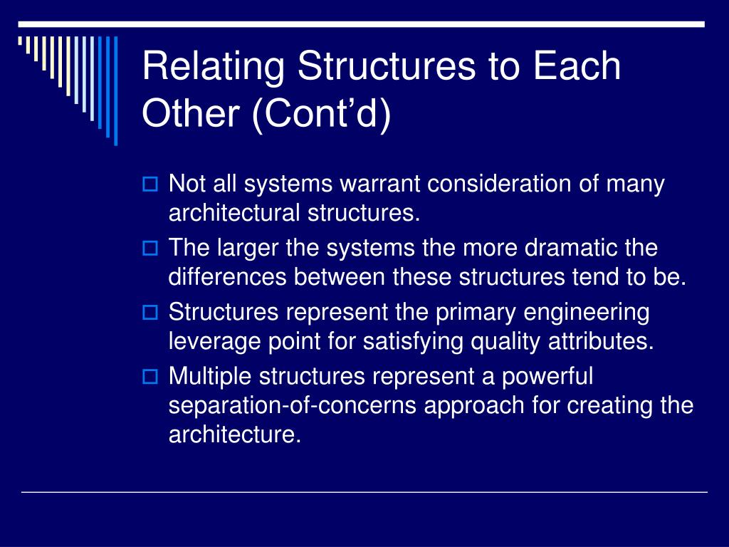 Relating Structures to Each Other (Cont'd)