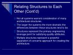 relating structures to each other cont d