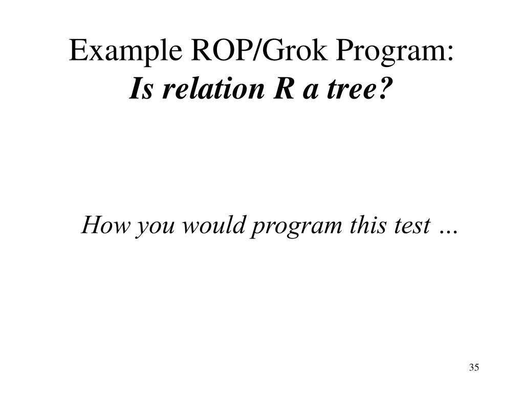 Example ROP/Grok Program:
