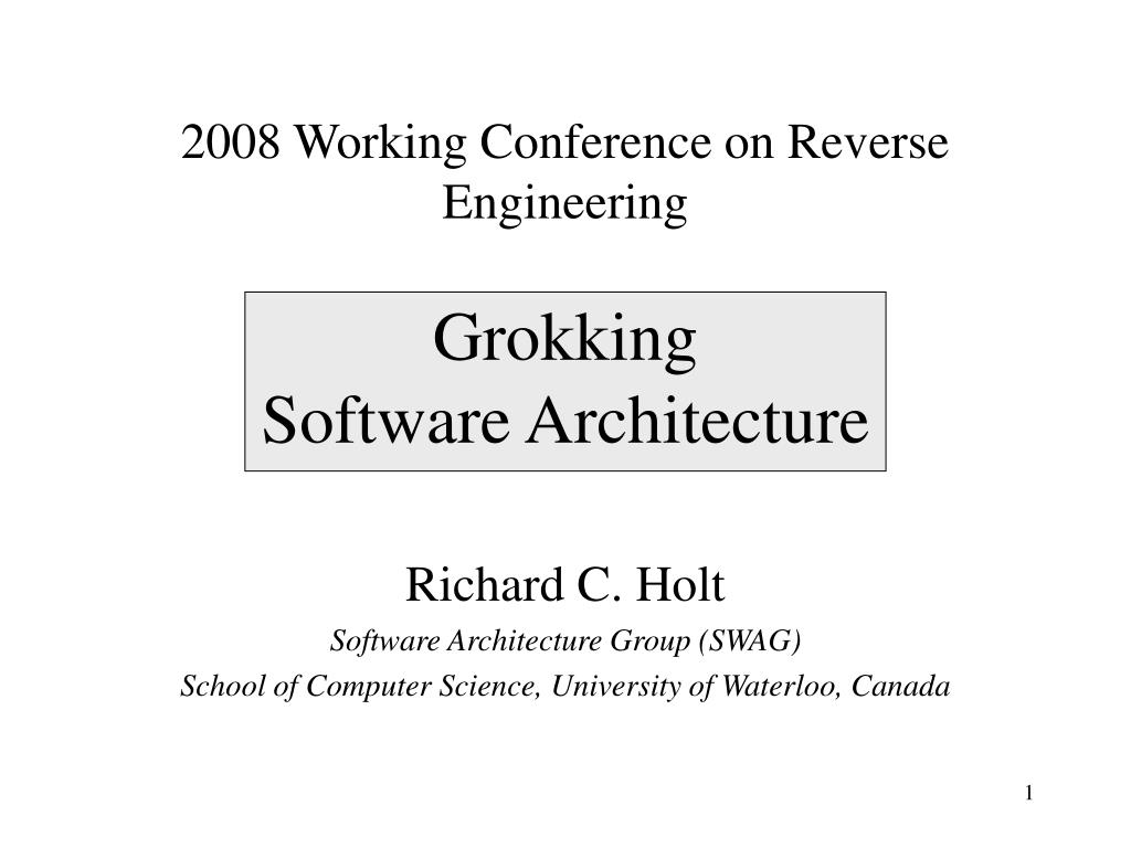 2008 Working Conference on Reverse Engineering
