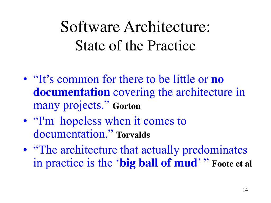 Software Architecture: