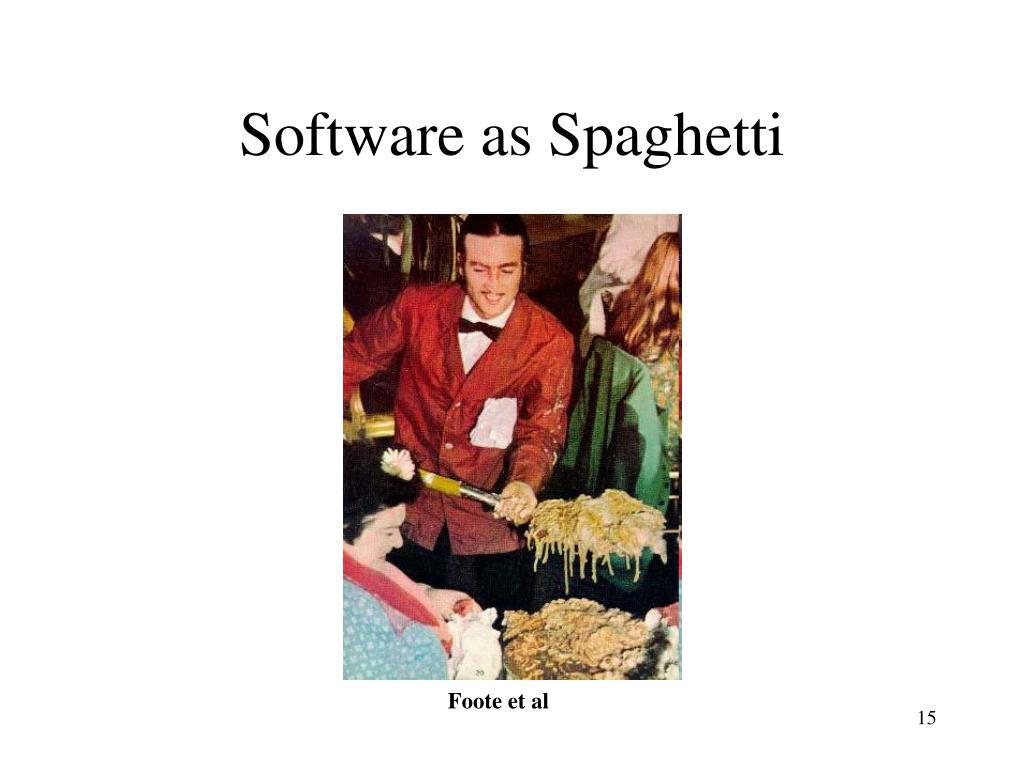Software as Spaghetti