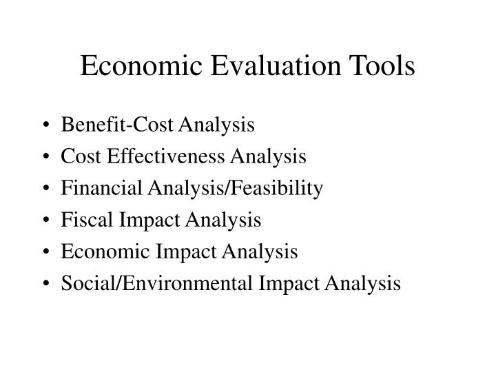 Economic Evaluation Tools
