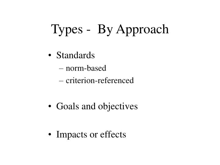Types -  By Approach
